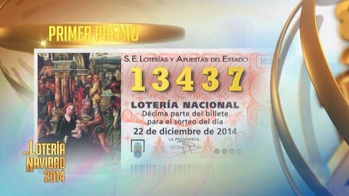 El premio gordo, el 13.437. Toda la información: http://www.rtve.es/loteria