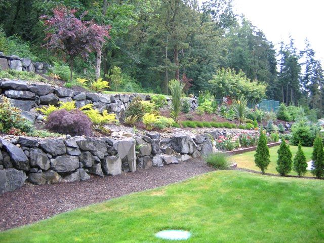 44 best images about erica 39 s backyard on pinterest for Terraced yard ideas