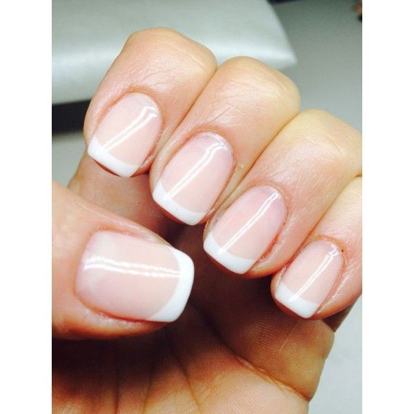 French Natural nails ❤ liked on Polyvore featuring beauty products, nail care and nail treatments