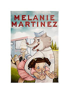 Ice cream, you scream, we all scream for Melanie! // Melanie Martinez Ice Cream Truck Wolf Poster