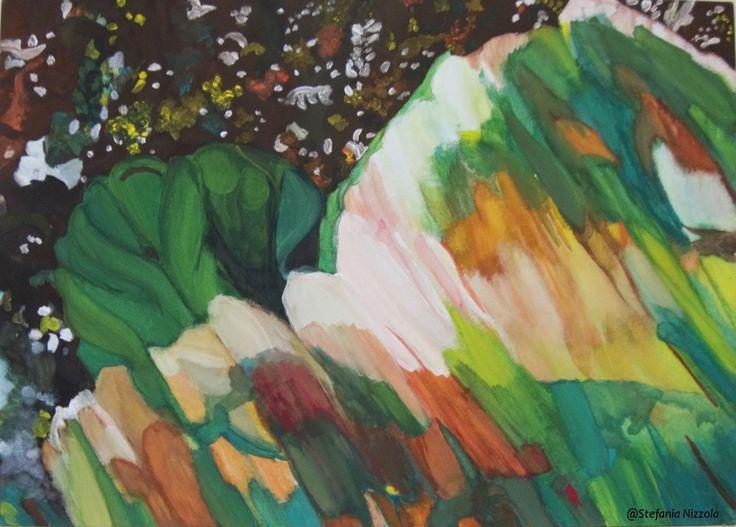 Tempera su cartone telato, 50x70 cm, 2013.