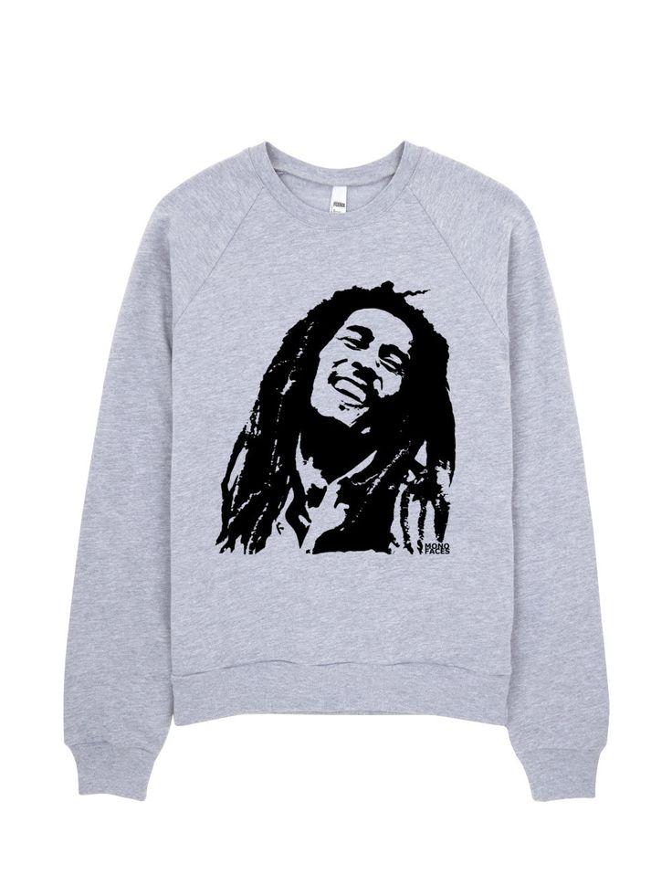 Bob Marley Sweatshirt, Rasta Clothing, Rastafari Clothes, Crewneck Sweatshirt, Unisex Sweater, Bob Marley Shirt, Freedom Clothes, Raggae by MONOFACESoADULT on Etsy