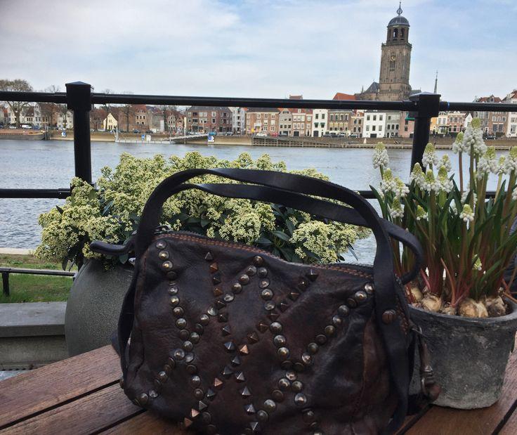 @campomaggi bag in beautiful Deventer, Holland..... @Carlalafashion #campomaggi #carlalafashion