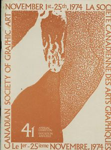 41ST ANNUAL EXHIBITION CANADIAN SOCIETY OF GRAPHIC ART 1974 London Ontario image 1
