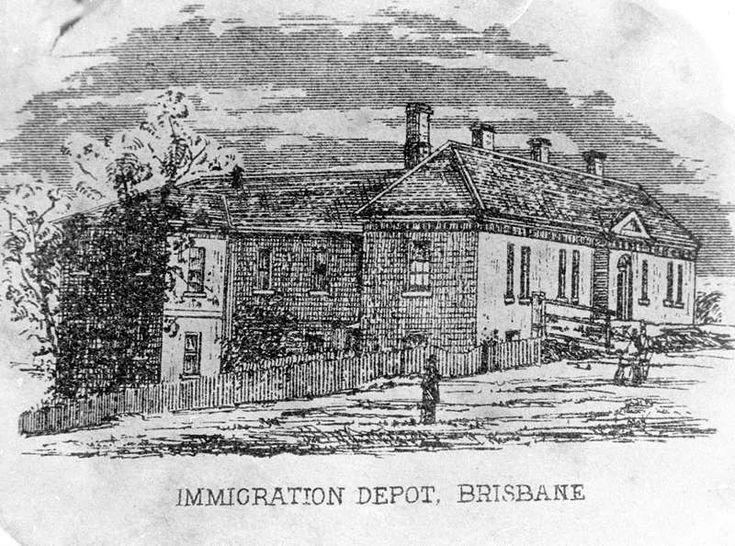 Immigration Depot at William Street, Brisbane, Queensland, ca. 1868