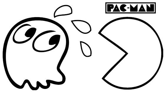 Pin Di Best Pac Man Coloring Pages
