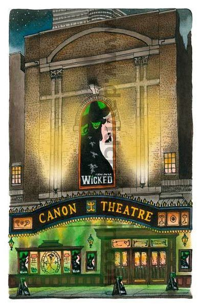 """Canon Theatre with """"Wicked"""" Marquee.  This can be changed to Ed Mirvish Theatre, a different show marquee or your name in lights!  Discount to first time purchasers http://www.mirvish.com/theatres/edmirvishtheatre"""