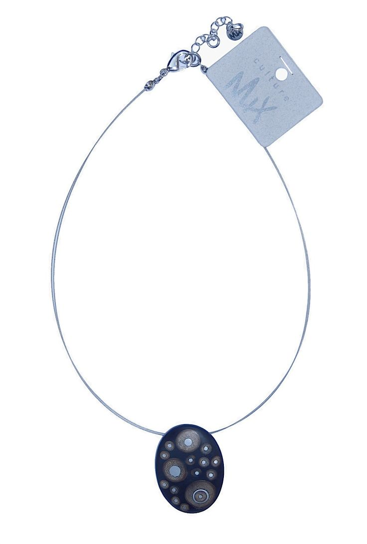 Really nice for party; this necklace of bamboo and resin. I call it Starry sky...