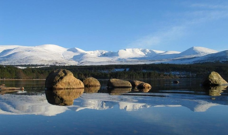 Views towards Aviemore in the Cairngorm Mountains, Scotland