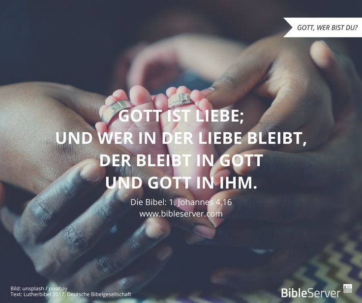 Gott ist Liebe. | Bibelvers nachlesen in 1. Johannes 4,16 auf #BibleServer
