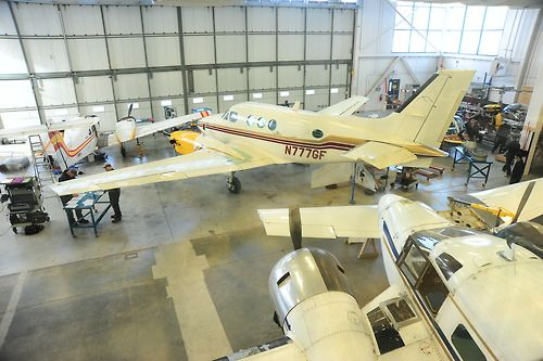 We have a fully equipped hangar for our aerospace and avionics students.  #centennialcollege