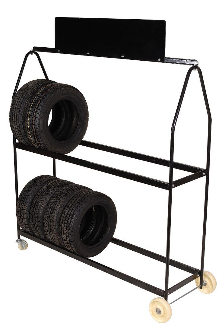 Deluxe Tire Display Rack on Wheels