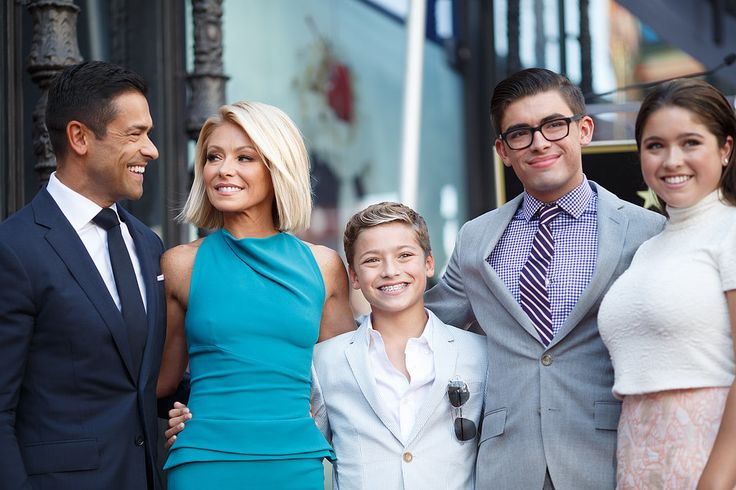 Kelly Ripa had six very special cheerleaders on Monday when she received a star on the Hollywood Walk of Fame: her husband, Mark Consuelos; her three kids, Joaquin, Michael, and Lola; and her parents, Esther and Joseph.