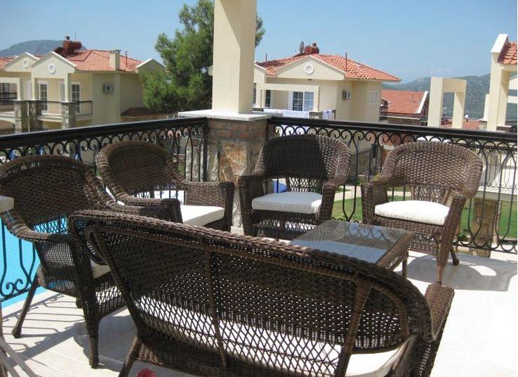 Seating area on balcony - Emerald Heights #emeraldheights #turkey #aegeancoast #turkey #ovacik #hisaronu