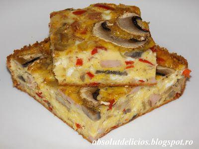 Absolut Delicios - Retete culinare: FRITTATA CU LEGUME, SUNCA SI CASCAVAL