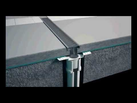 How to install your linear shower drain and grate in many applications