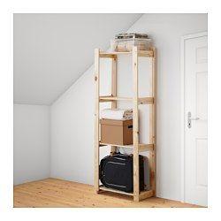 IKEA - АЛЬБЕРТ, Стеллаж, Необработанное дерево; можно покрыть маслом, воском или морилкой.