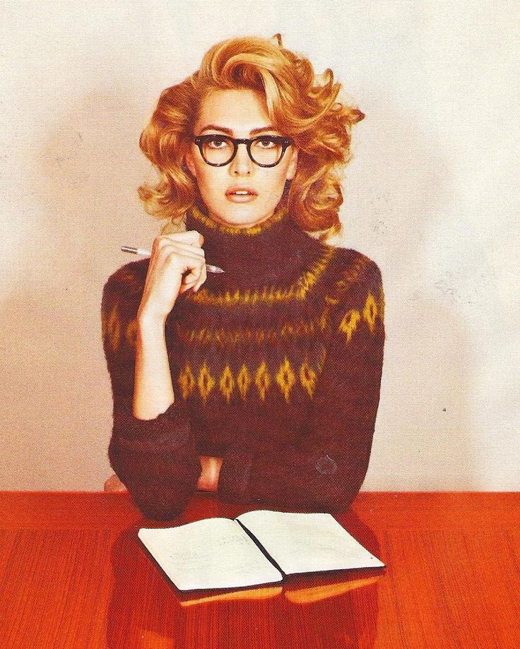 Black Eyewear Buddy in Look Magazine.  Classic 50s glasses...THE HAIR