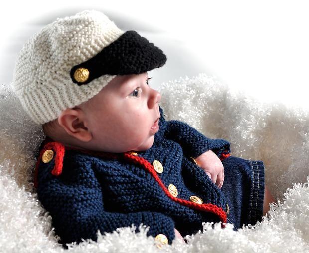 Crochet Baby Marine Hat Pattern : 1000+ images about Crochet boy Jackets on Pinterest ...