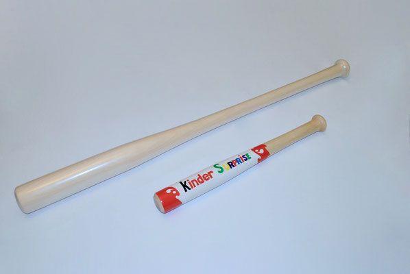 Бейсбольная бита Kinder Surprise Киндер Сюрприз, сувенир, подарок - Купить бейсбольную биту Харли Квинн, Люсиль в Москве - оригинальные бейсбольные биты COOLBAT.RU