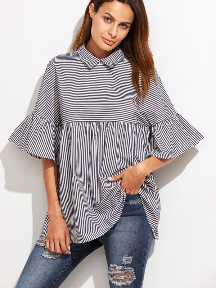 15 Ruffle shirt, Embellished top, Long sleeve shirts under $15 | All in One Guide | Page 12