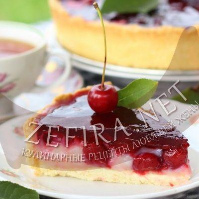 Пирог с вишней и заварным кремом-домашние рецепты с фото