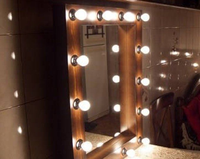 Showroom Mirror With Lights Mirror For Showroom With Lights Etsy Lighted Wall Mirror Hollywood Mirror With Lights Mirror Wall