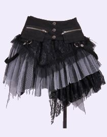 Jupe gothique lolita RQ-BL