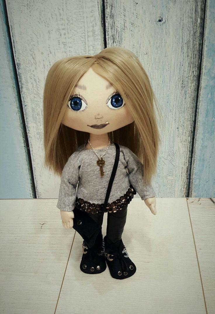 Купить Модная штучка. Интерьерная кукла. Текстильная кукла. Портретная кукла - интерьерная кукла