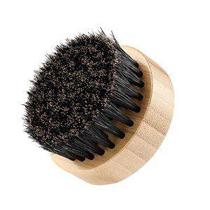 PLEMO Brosse Barbe, Brosse Ronde en 100% Poils de Sanglier et Bois Naturel pour Coiffage et Entretien de la Barbe et Moustache avec Boîtier…