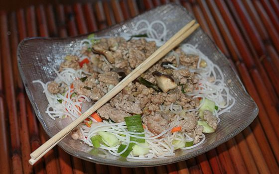 rice noodle salad gourmet traveller fiery beef and rice noodle salad ...