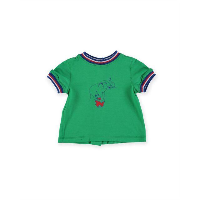 Camiseta De Bebe Nino En Color Verde Con Serigrafia En 2020