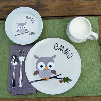 personalized kids plate   owl & 12 best Fun Kid\u0027s Plates images on Pinterest   Dishes Dinner plates ...