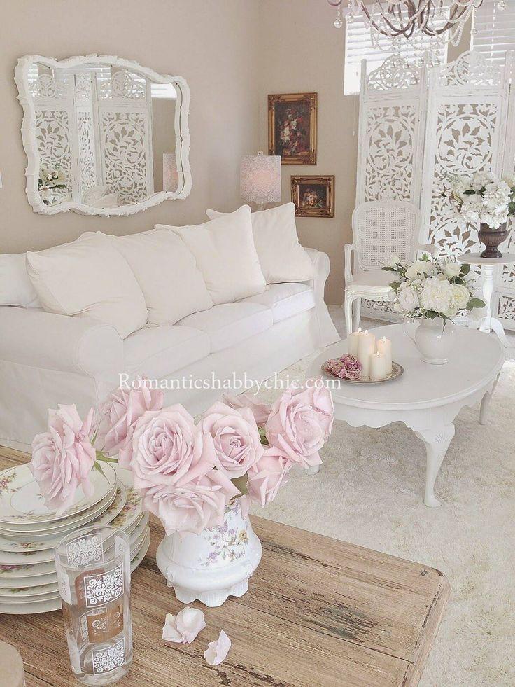 32 Shabby Chic Living Room Decor-Ideen für ein bequemes und wunderschönes Interieur