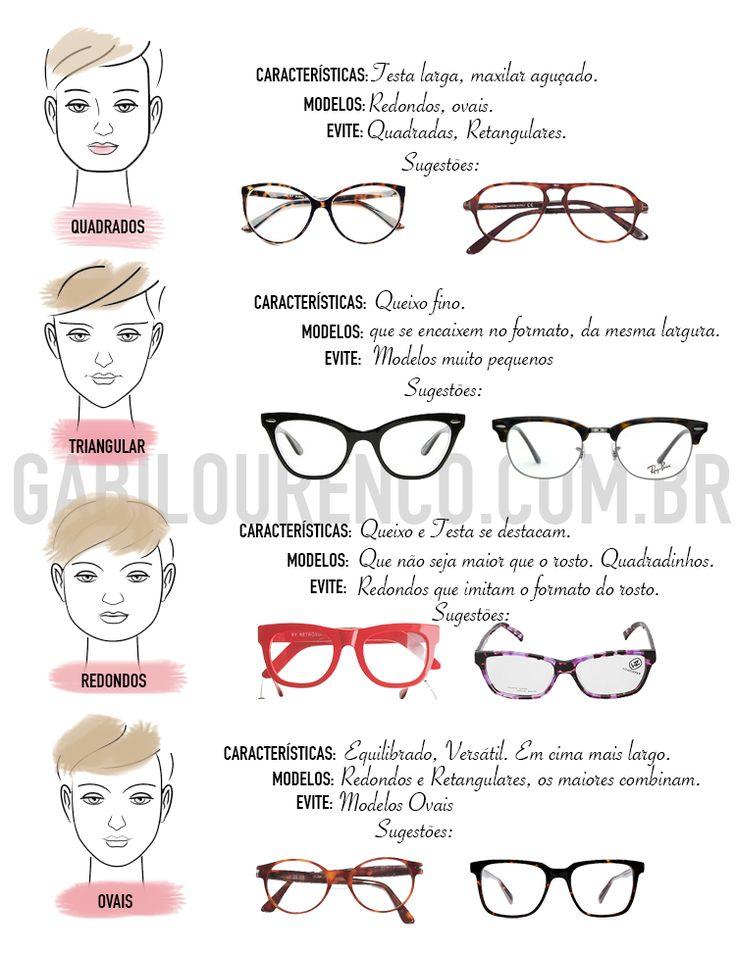 94e748d85 Óculos para cada tipo de rosto | Lentes in 2019 | Óculos, Modelos de óculos,  Óculos descolados
