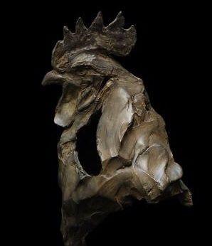 Bronze sculpture by Erwin Peeters (Belgian, b. 1964)