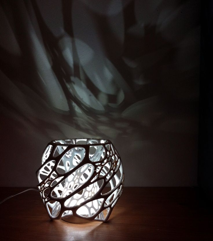 cellular table lamp by Nervous System
