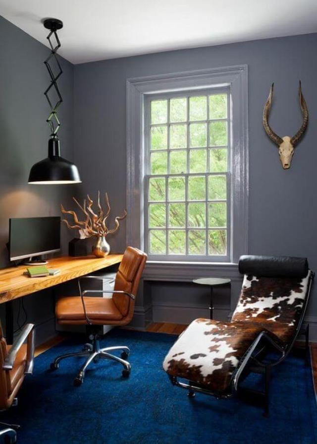31 Creative Home Office Ideas That Ll Inspire You Sharp Aspirant Home Office Decor Home Office Design Masculine Home Offices