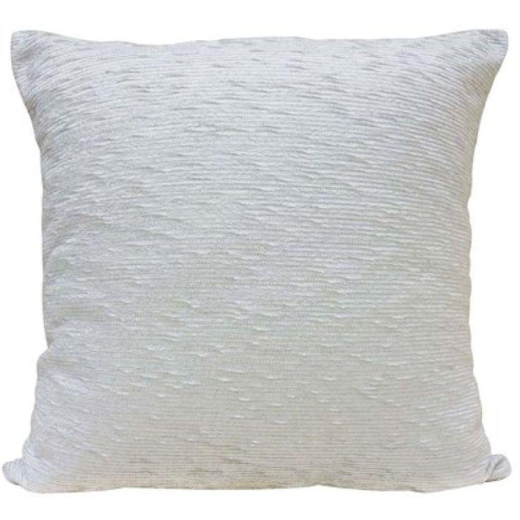 Capa De Almofada Chenille 0,45 X 0,45 - Niazitex - Branco
