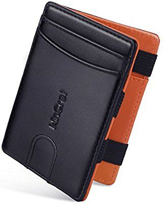 360fb368b0d0b WinCret Geldbeutel Männer Magic Wallet - Leder Geldbörse Herren mit  Reißverschluss-Münzfach - RFID-