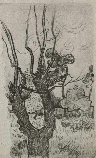 Vincent van Gogh, A Bare Treetop in the Garden of the Asylum, Saint Remy, October, 1889. Van Gogh Museum, Amsterdam.