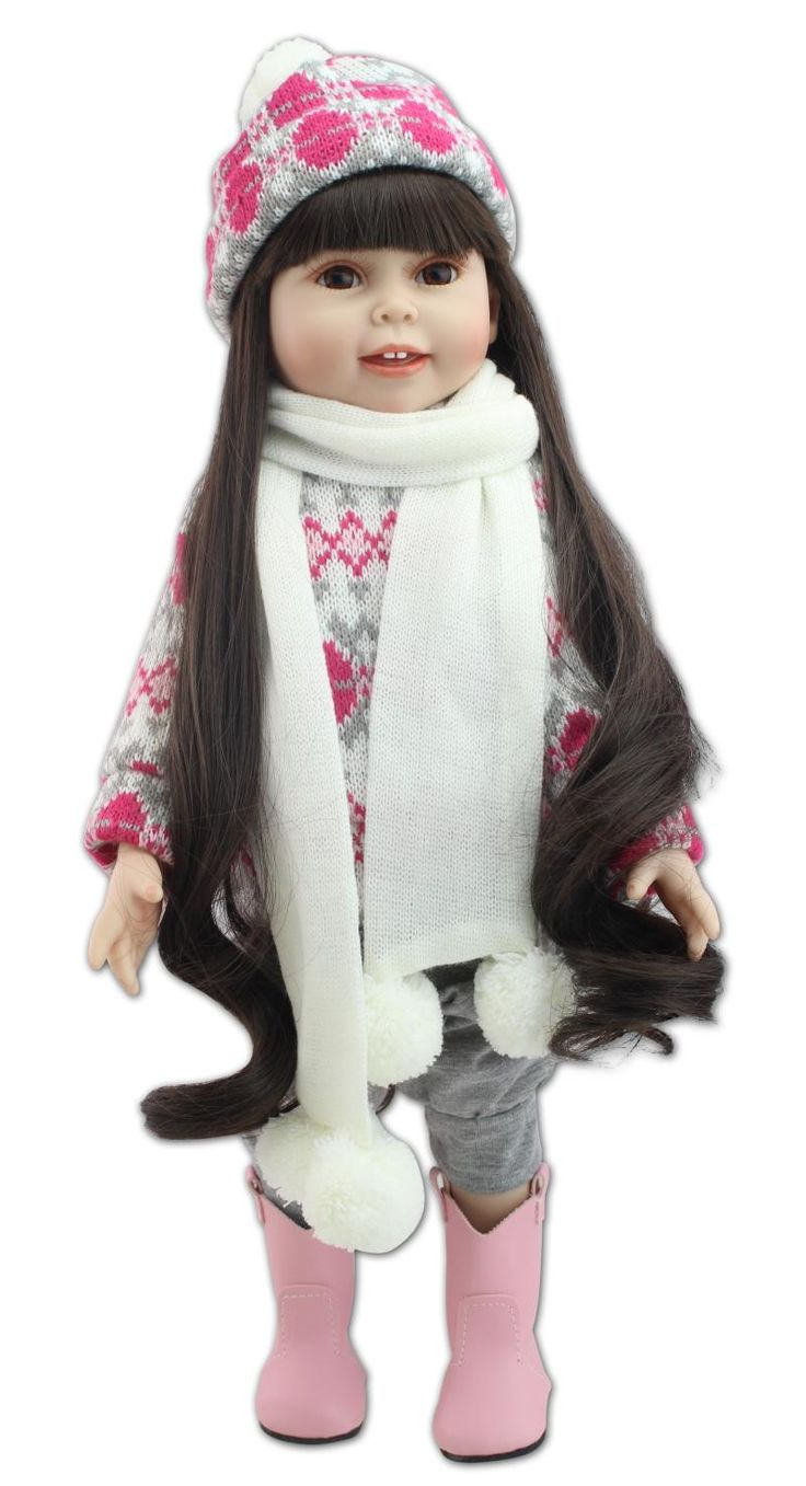 Brown long straight hair AMERICAN GIRL Dolls 18'' winter dress scarf hat  Baby doll reborn for girls toys-in Dolls from Toys & Hobbies on Aliexpress.com | Alibaba Group