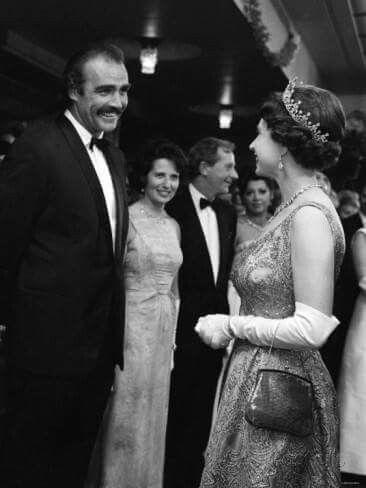Sean Connery meets Queen Elizabeth .