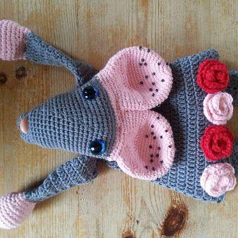 Lappenpop Muis uit het boek Gehaakte Lappenpoppen - A La Sascha ©Jenneke