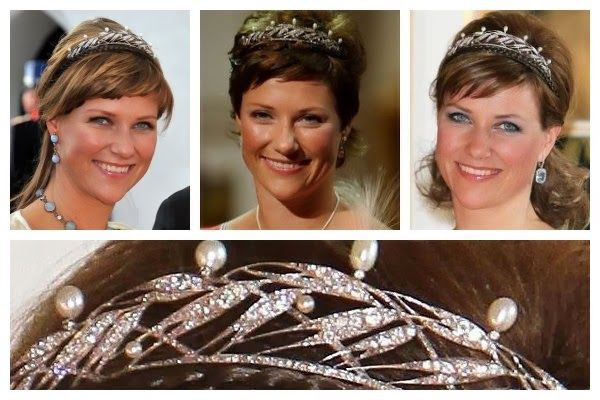 tiaras that royal princesses had received for their eighteenth birthday. It's  a Scandinavian tradition; Crown Princess Victoria and Princess Madeleine of Sweden each received one, as did each of the three Danish princesses (Margrethe, Benedikte, and Anne-Marie). Even a future Scandinavian queen, Princess Maud of Wales, received a birthday tiara from her grandmother, Queen Victoria. Today, let's look at the birthday tiara received by one of Maud's descendants, Princess Märtha Louise of…