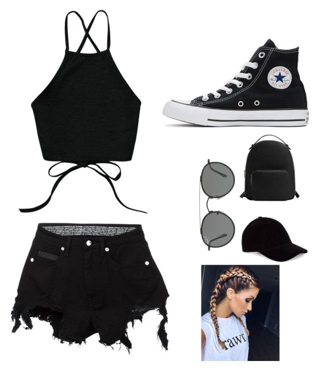 """""""Untitled #2"""" by angeline-mewengkang on Polyvore featuring County Of Milan, Converse, MANGO and Ray-Ban"""