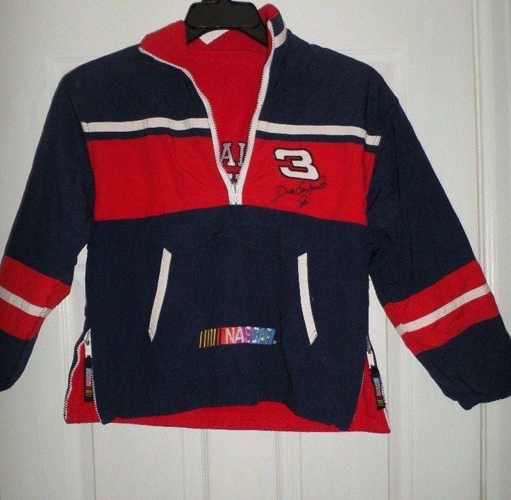 Youth Boys Red, Blue DALE EARNHARDT JR #3 Reversible NASCAR Jacket, Size S 8/10 #CHASEAUTHENTICSNASCAR #HendrickMotorsports