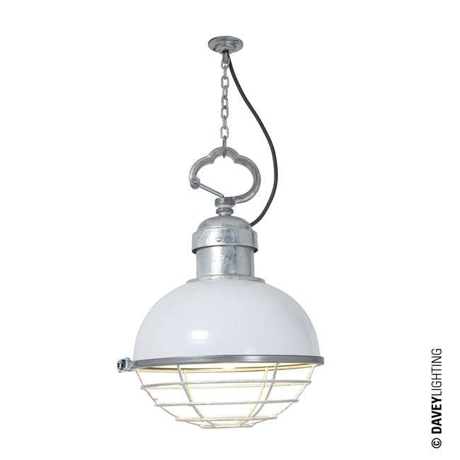 Oceanic Small Pendant Light 7243 White By Davey Lighting Vintagependantlight