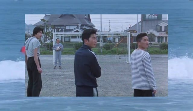 "Music: ""Found"" by Midnight Runners  [https://soundcloud.com/juicytunes/midnight-runners-found]  Movie: ""A scene at the sea""(あの夏、いちばん静かな海),1991, directed by Takeshi Kitano"