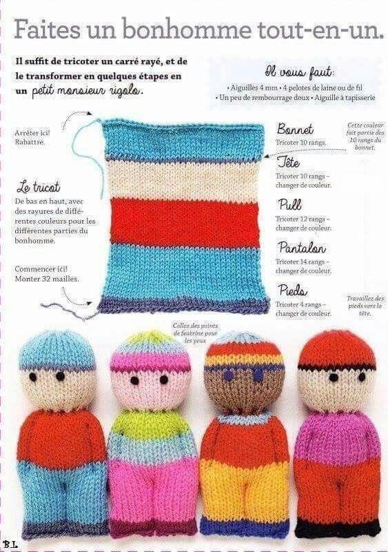 Muñecos de colores con restos de llana